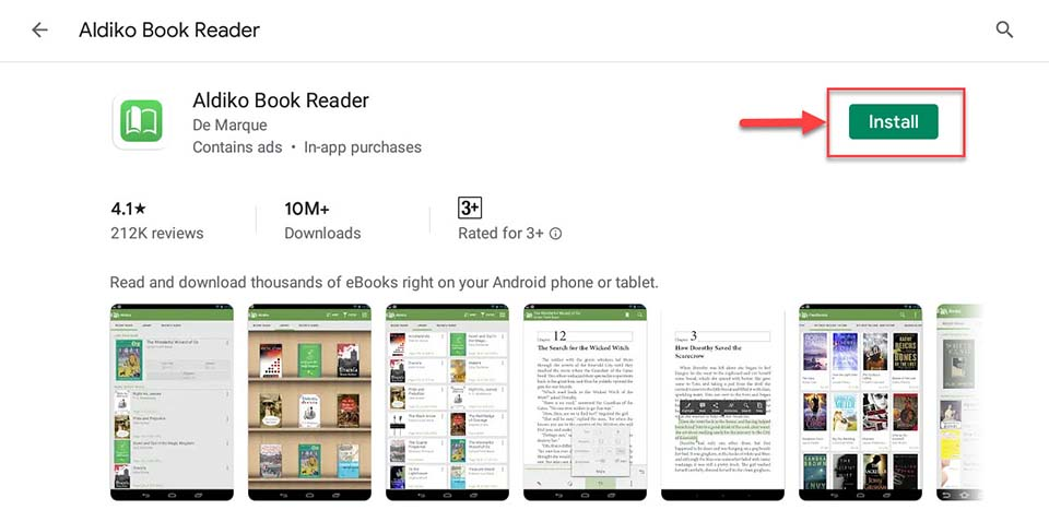 Download and Install Aldiko Book Reader For PC (Windows 10/8/7)