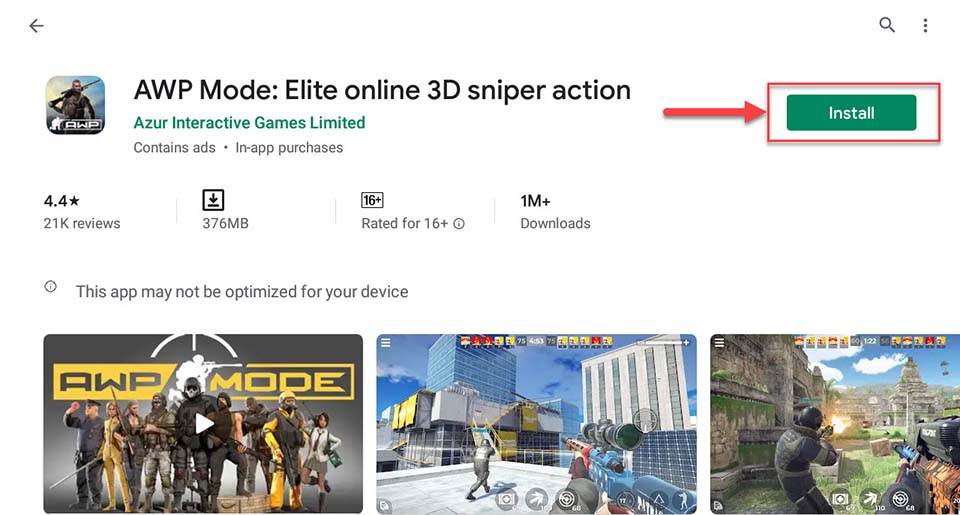 Download and Install AWP Mode - Elite online 3D FPS For PC (Windows 10/8/7)