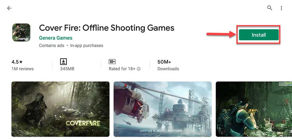 Download and Install Cover Fire: Offline Shooting Games For PC (Windows 10/8/7)