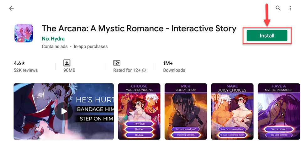 Download and Install The Arcana A Mystic Romance - Interactive Story For PC (Windows 10/8/7)