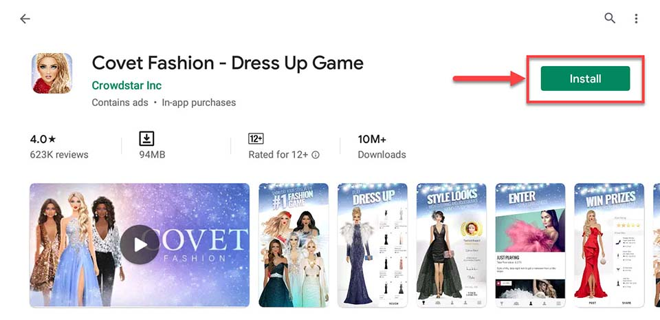 Download and Install Covet Fashion - Dress Up Game For PC (Windows 10/8/7)
