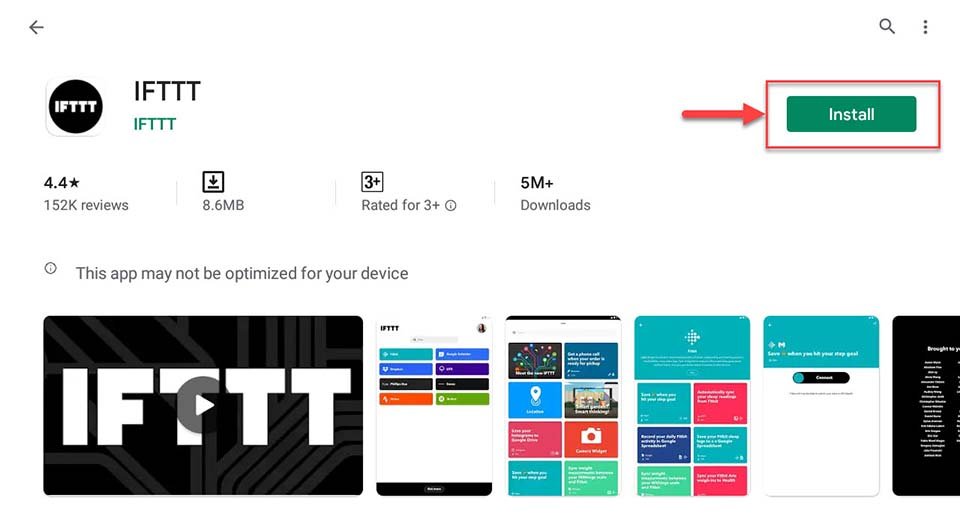 Download and Install IFTTT For PC (Windows 10/8/7)