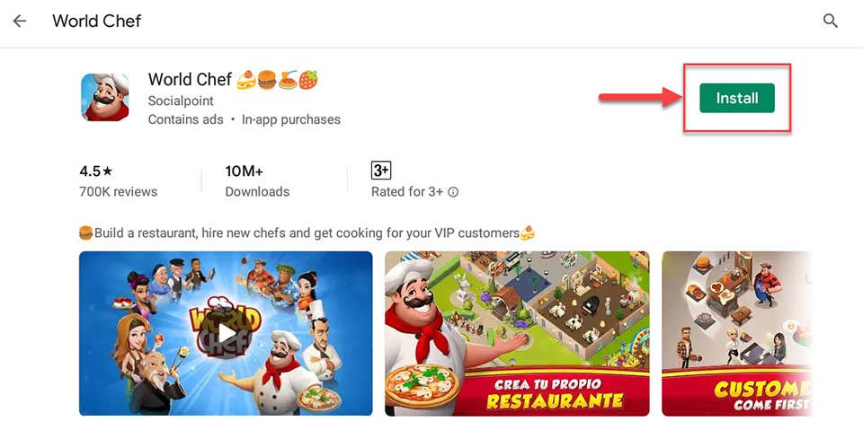Download and Install World Chef For PC (Windows 10/8/7)
