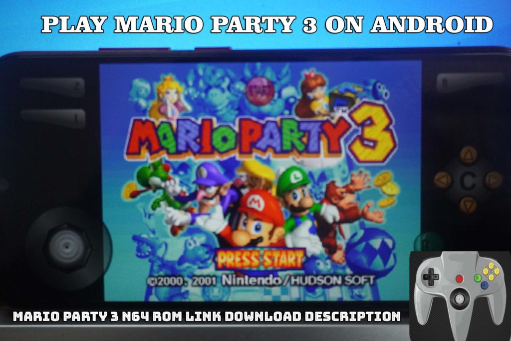MARIO PARTY 3 N64 ROM - How To Play MARIO PARTY 3 on Android Using MegaN64