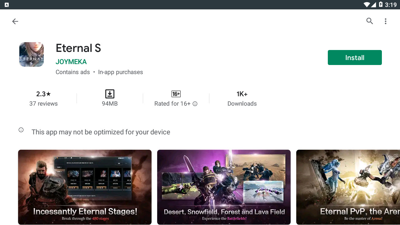 Download and Install Eternal S For PC (Windows 10/8/7/Mac)