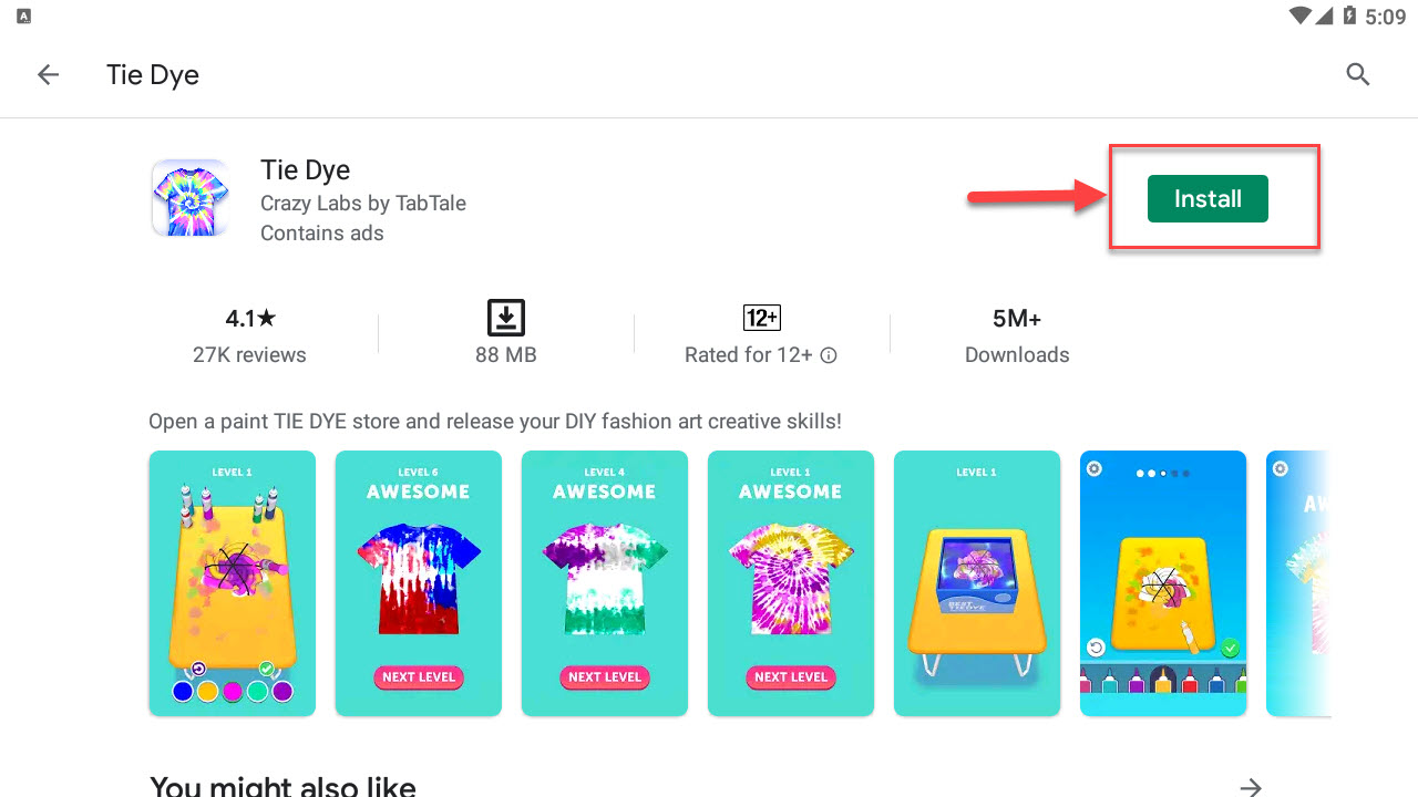 Download and Install Tie Dye For PC